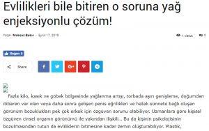 Evlilikleri Bile Bitiren O Soruna Yağ Enjeksiyonlu Çözüm! Sosyal Türkiye