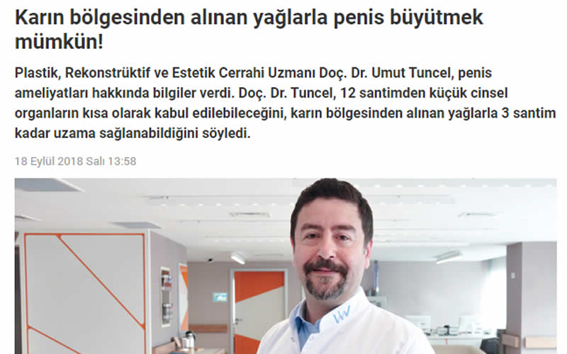 Karın Bölgesinden Alınan Yağlarla Penis Büyütmek Mümkün! Haber Reporter